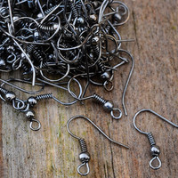 Gunmetal French Ear Hooks 19mm 20pcs Jewellery Findings Jewellery Making diyforstyle