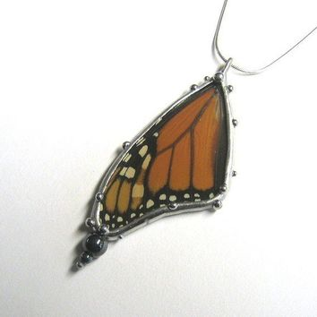 Monarch Butterfly Necklace by neile on Etsy