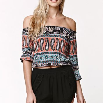 LA Hearts Crochet Hem Tulip Shorts - Womens Short - Black