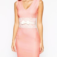Paper Dolls Petite Bow Waist Pencil Dress