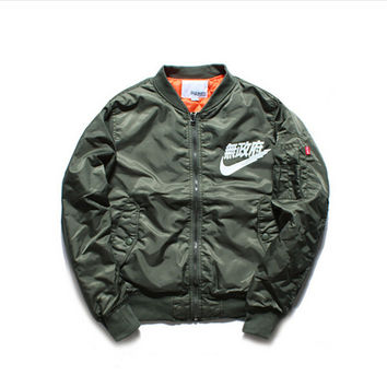 Ma1 Bomber Jacket Men 2016 New Japanese Bomber Jacket KANYE WEST for Pilot Flight Jacket Bombers Men Baseball Coats Military
