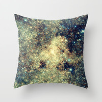 Astral Glitter Milky Way Throw Pillow by 2sweet4words Designs
