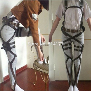 Attack On Titan Cosplay Shingeki No Kyojin Cosplay Recon Corps Harness Belts Hookshot Cosplay Costume belt suit