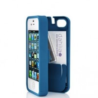 Turquoise Case for Iphone 5 with Built-in Storage Space for Credit Cards/id/money, By EYN (Everything You Need)