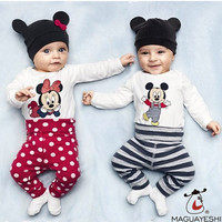 Fashion Baby Boys Girls Rompers Infant Cute Cartoon Jumpsuits Toddler Animal Clothing Sets Newborn Baby Clothes+Hat+Pants