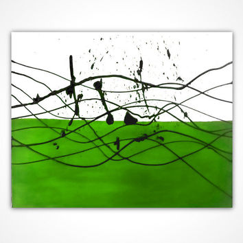 Green painting - Abstract oil painting Original art Green oil painting Green abstract painting - Green canvas art - Original green painting