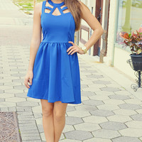 I Know You Love Me Dress: Royal Blue