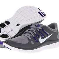 Nike Free 5.0+ Stealth/Dark Grey/Electro Purple/Metallic Platinum - Zappos.com Free Shipping BOTH Ways