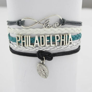 Infinity Love Football Bracelet - Philadelphia Football