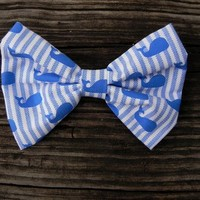 Little Lady Boutique  | Big Little Whales Bow | Online Store Powered by Storenvy