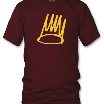 BORN SINNER J COLE T Shirt Aren't we all sinners? album art - MAROON