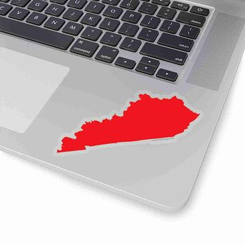 Kentucky State Shape Sticker RED