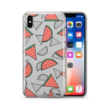 Watermelon Love - Clear TPU Case Cover