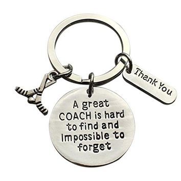 Hockey Great Coach is Hard to Find Coach Keychain