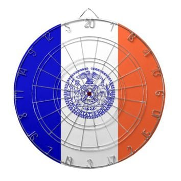 Dartboard with Flag of New York, USA