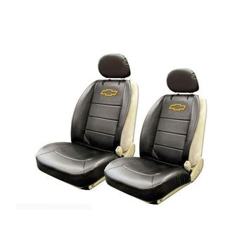Licensed Official New Set Chevy Elite Logo Car Truck Synthetic Leather Front Sideless Seat Covers