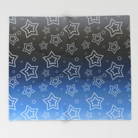 Ornated Silver Stars Throw Blanket by Octavia Soldani | Society6
