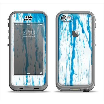 The Running Blue WaterColor Paint Apple iPhone 5c LifeProof Nuud Case Skin Set