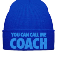 YOU CAN CALL ME COACH EMBROIDERY HAT - Beanie Cuffed Knit Cap
