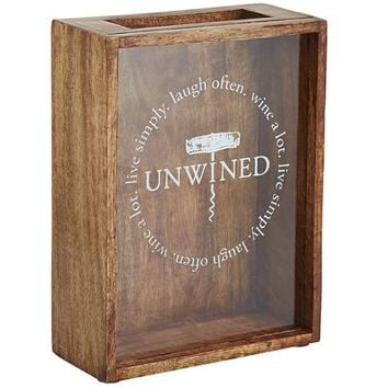 Shadow Box Wine Cork Holder