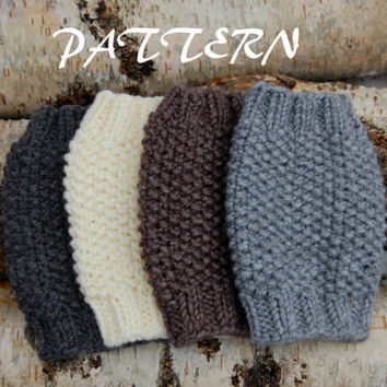 KNITTING PATTERN - Knitted Boot Cuffs Pattern