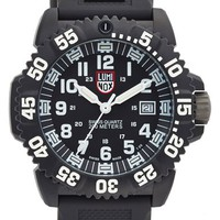 Men's Luminox 'Sea - Navy SEAL Colormark' Silicone Strap Watch, 43mm