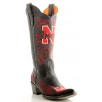 "Gameday Boots 13"" Tall Leather University Of Nebraska Cowboy Boots"
