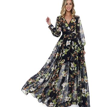 Anne Navy Floral Romance Dress