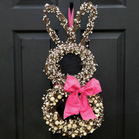 Bunny Wreath  Easter Wreath  Spring Wreath by EverBloomingOriginal