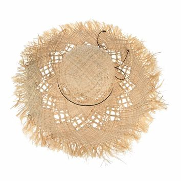 Fashion Lady Large Brim Straw Hats Hollow Out Beach Sun Hats for Women Summer Hat Floppy Sombrero Caps Sunhats
