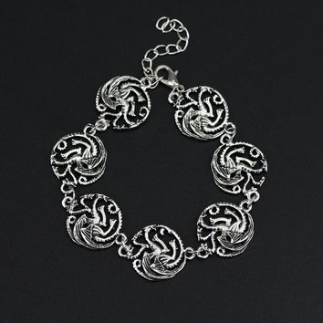 Game Of Throne Dragon Pendant Bracelets For Men Vintage