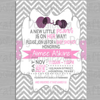 It's a Girl! Elephant A Little Peanut-  Baby Shower Invitations - Personalized with 24hr turn-around. Printable 4x6 or 5x7 Image!