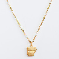 LUXE: State Love Gold Necklace-Arkansas