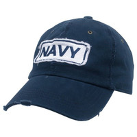 Vintage Military Polo Cap - NAVY