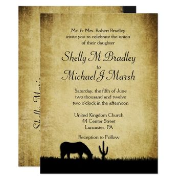 Western Rustic Wedding Invitation