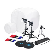 Shutter Starz Tabletop Complete Photo Studio Kit w/2 Light Tents & 8 Backgrounds