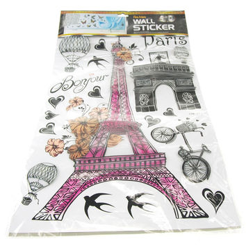 Paris Eiffel Tower Wall Decor, 3D Stickers