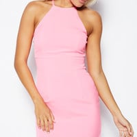 Sugar & Spice Bodycon Dress in Hot Pink