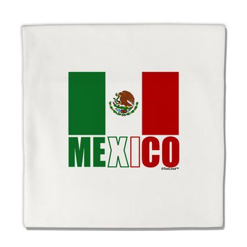 "Mexican Flag - Mexico Text Micro Fleece 14""x14"" Pillow Sham by TooLoud"