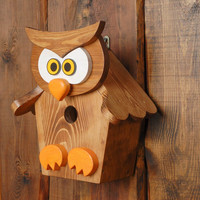 Garden wooden birdhouse handmade eco friendly home decoration original present