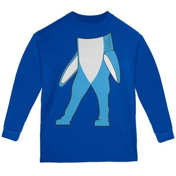 PEAPGQ9 Halloween Left Shark Body Costume Youth Long Sleeve T Shirt