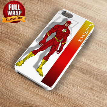 The Flash DC Heroes Full Wrap Phone Case For iPhone, iPod, Samsung, Sony, HTC, Nexus, LG, and Blackberry