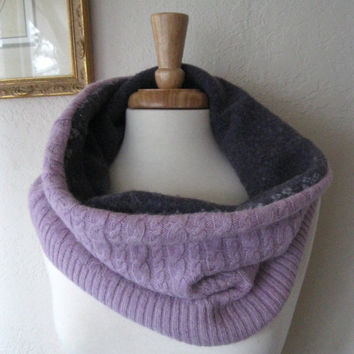 Fashion Wool Cowl Infinity Scarf Snood Capelet by SewEcological