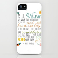 As a Nurse... iPhone & iPod Case by Maybesparrowphotography