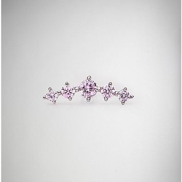 18 Gauge Pink Branch Cartilage Ring - Spencer's