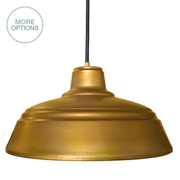 "Farmhouse 14"" Metal Shade Pendant Light"