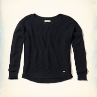Girls Textured Crew Sweater | Girls New Arrivals | HollisterCo.com