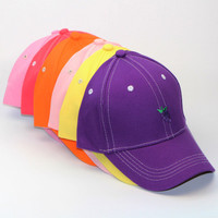 SIMPLE - Hot Summer Gift Fruits Retro Embroidery Baseball Cap Unique Casual Hat a12461