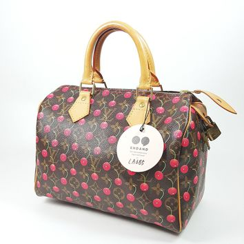 Authentic Louis Vuitton Speedy 25 Cherry Monogram Murakami Takashi M95009 LA685