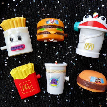 Vintage Retro 80s 90s McDonalds Toys Fast by Hoodratroughdiamond